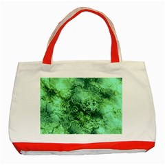 Wonderful Marbled Structure I Classic Tote Bag (red)