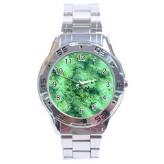 Wonderful Marbled Structure I Stainless Steel Analogue Watch