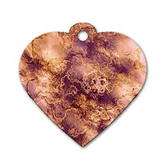 Wonderful Marbled Structure I Dog Tag Heart (one Side)
