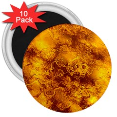 Wonderful Marbled Structure H 3  Magnets (10 Pack)