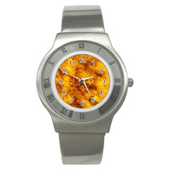Wonderful Marbled Structure H Stainless Steel Watch