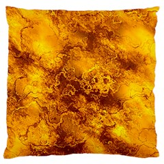 Wonderful Marbled Structure H Large Flano Cushion Case (two Sides)