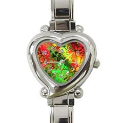 Awesome Fractal 35i Heart Italian Charm Watch