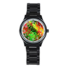 Awesome Fractal 35i Stainless Steel Round Watch