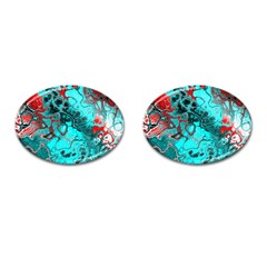 Awesome Fractal 35g Cufflinks (oval)