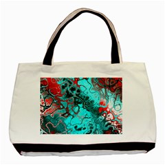 Awesome Fractal 35g Basic Tote Bag (two Sides)