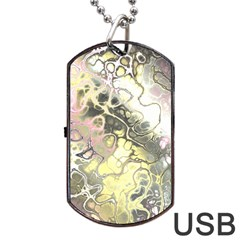 Awesome Fractal 35h Dog Tag Usb Flash (two Sides)