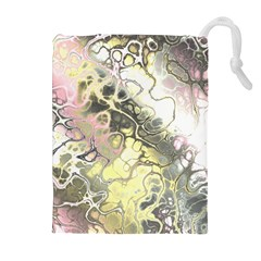 Awesome Fractal 35h Drawstring Pouches (extra Large)