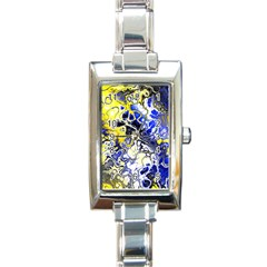 Awesome Fractal 35a Rectangle Italian Charm Watch