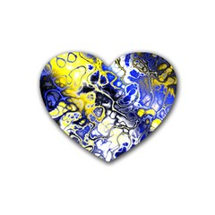 Awesome Fractal 35a Rubber Coaster (heart)