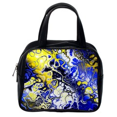 Awesome Fractal 35a Classic Handbags (one Side)