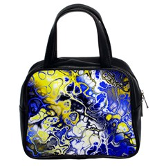 Awesome Fractal 35a Classic Handbags (2 Sides)