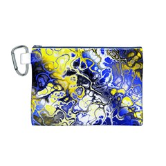 Awesome Fractal 35a Canvas Cosmetic Bag (m)