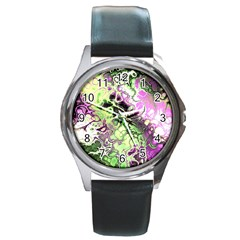 Awesome Fractal 35d Round Metal Watch