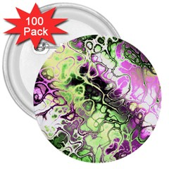 Awesome Fractal 35d 3  Buttons (100 Pack)