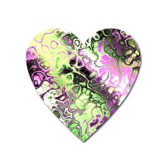 Awesome Fractal 35d Heart Magnet