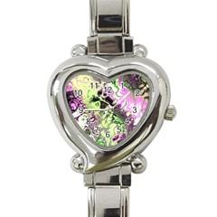 Awesome Fractal 35d Heart Italian Charm Watch
