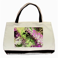 Awesome Fractal 35d Basic Tote Bag (two Sides)
