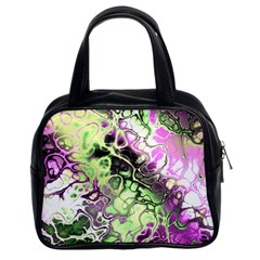Awesome Fractal 35d Classic Handbags (2 Sides)