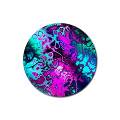 Awesome Fractal 35b Rubber Coaster (round)