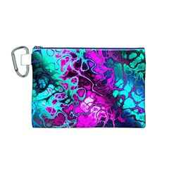 Awesome Fractal 35b Canvas Cosmetic Bag (m)