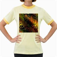 Awesome Fractal 35e Women s Fitted Ringer T Shirts