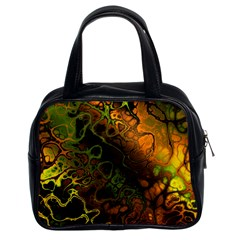 Awesome Fractal 35e Classic Handbags (2 Sides)