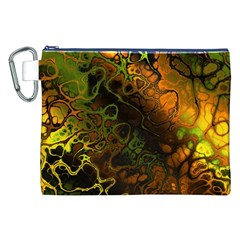 Awesome Fractal 35e Canvas Cosmetic Bag (xxl)