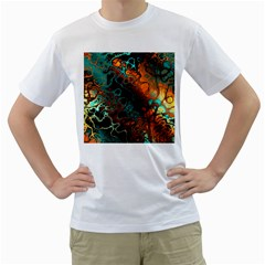 Awesome Fractal 35f Men s T Shirt (white) (two Sided)