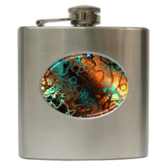 Awesome Fractal 35f Hip Flask (6 Oz)