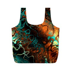 Awesome Fractal 35f Full Print Recycle Bags (m)