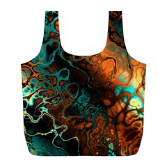 Awesome Fractal 35f Full Print Recycle Bags (l)