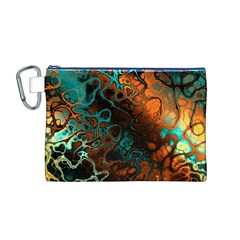 Awesome Fractal 35f Canvas Cosmetic Bag (m)