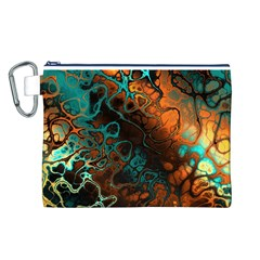 Awesome Fractal 35f Canvas Cosmetic Bag (l)