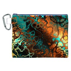 Awesome Fractal 35f Canvas Cosmetic Bag (xxl)