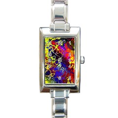 Awesome Fractal 35c Rectangle Italian Charm Watch