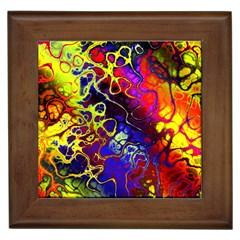 Awesome Fractal 35c Framed Tiles