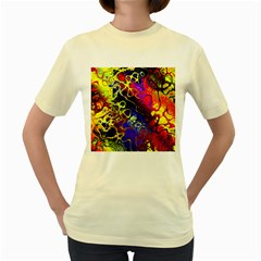 Awesome Fractal 35c Women s Yellow T Shirt