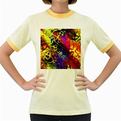 Awesome Fractal 35c Women s Fitted Ringer T Shirts
