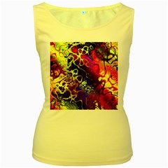 Awesome Fractal 35c Women s Yellow Tank Top