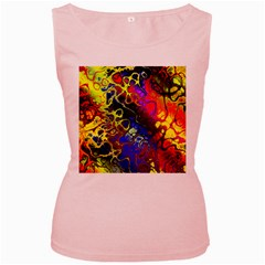 Awesome Fractal 35c Women s Pink Tank Top
