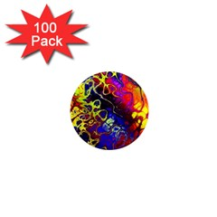 Awesome Fractal 35c 1  Mini Magnets (100 Pack)