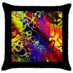 Awesome Fractal 35c Throw Pillow Case (black)