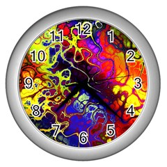 Awesome Fractal 35c Wall Clocks (silver)