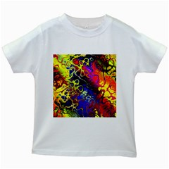 Awesome Fractal 35c Kids White T Shirts
