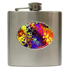 Awesome Fractal 35c Hip Flask (6 Oz)