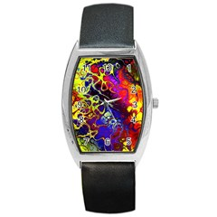 Awesome Fractal 35c Barrel Style Metal Watch