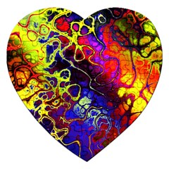 Awesome Fractal 35c Jigsaw Puzzle (heart)