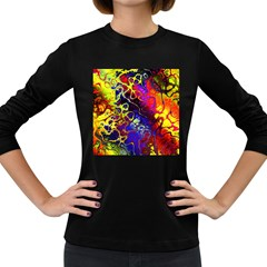 Awesome Fractal 35c Women s Long Sleeve Dark T Shirts