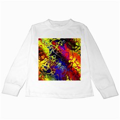 Awesome Fractal 35c Kids Long Sleeve T Shirts